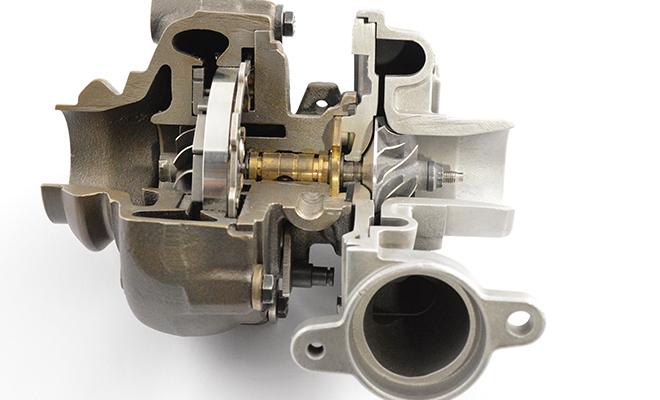 Melett turbo cut away