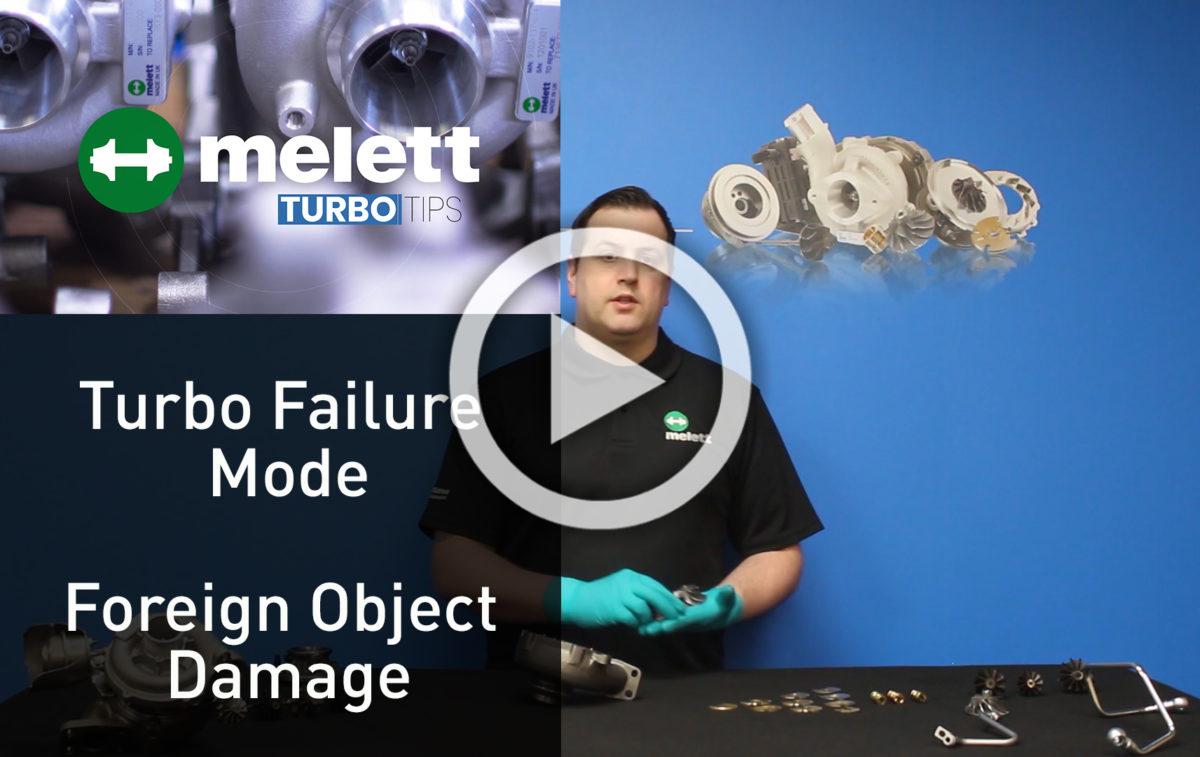 ¿Cómo causa el daño por objetos extraños una falla del turbo? ?