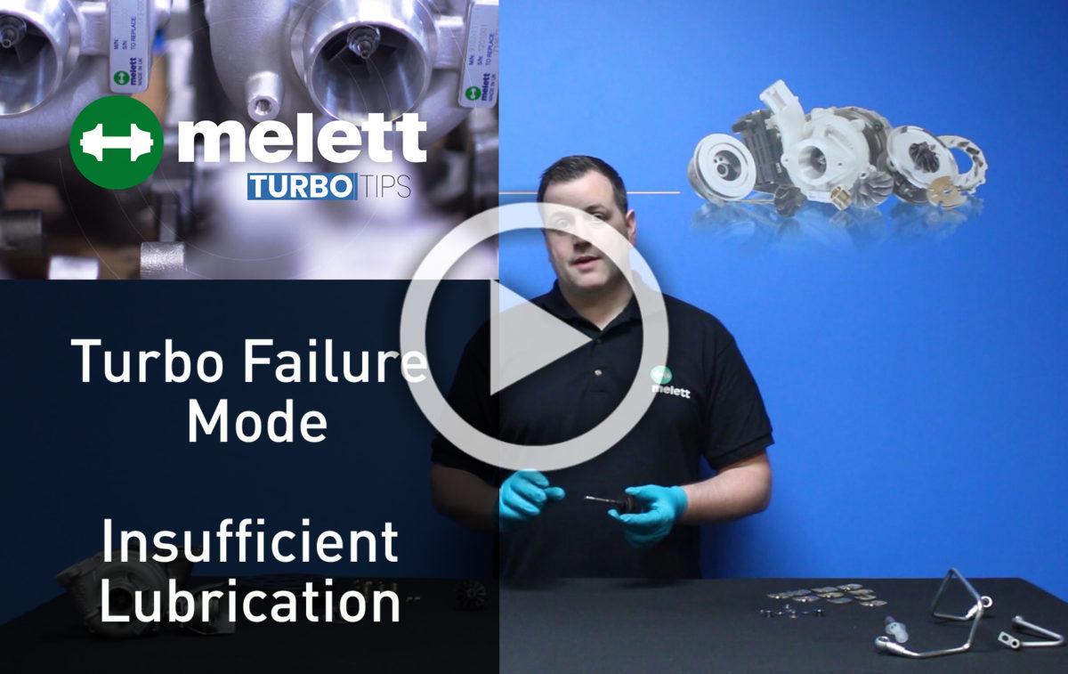 ¿Cómo causa la lubricación insuficiente fallo en el turbo? ?